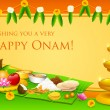 Onam Feast — Stockvectorbeeld