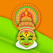 Colorful Kathakali Face — Vector de stock