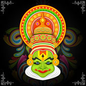 Colorful Kathakali Face — Stock Vector