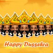 Happy Dussehra — Stock Vector