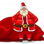 Santa Claus with bag — Stock Vector #32140765