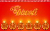 Decorated Diya for Diwali Holiday — Stockvector