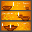 Stock Vector: Diwali Holiday banner