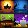 Stock vektor: Happy Halloween Poster