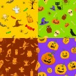Halloween seamless Pattern — Stockvektor