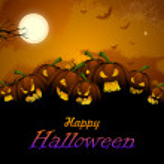 Jack-o-lantern Pumpkin in Halloween night — Stock Vector #33130879