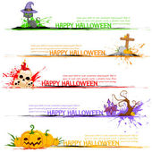 Happy Halloween Header — Stock Vector