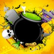 Stock Vector: Halloween Cauldron