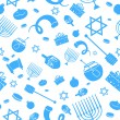 Stock Vector: Seamless Israeli Holiday Pattern
