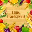 Happy Thanksgiving — Vettoriali Stock