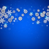 Sfondo di natale fiocchi di neve — Vettoriale Stock