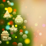 Christmas Offer on Bokeh Effect Background — Stock Vector #34167281