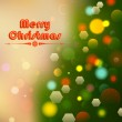 Christmas Background with Bokeh Effect — Stock Vector #34168341