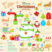 Infográfico de natal — Vetorial Stock