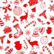 Seamless Pattern Christmas background — Stock Vector #34410581
