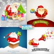 Merry Christmas with Santa Claus — Stock Vector