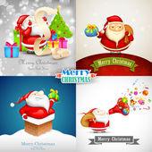 サンタ クロースとメリー クリスマス — ストックベクタ