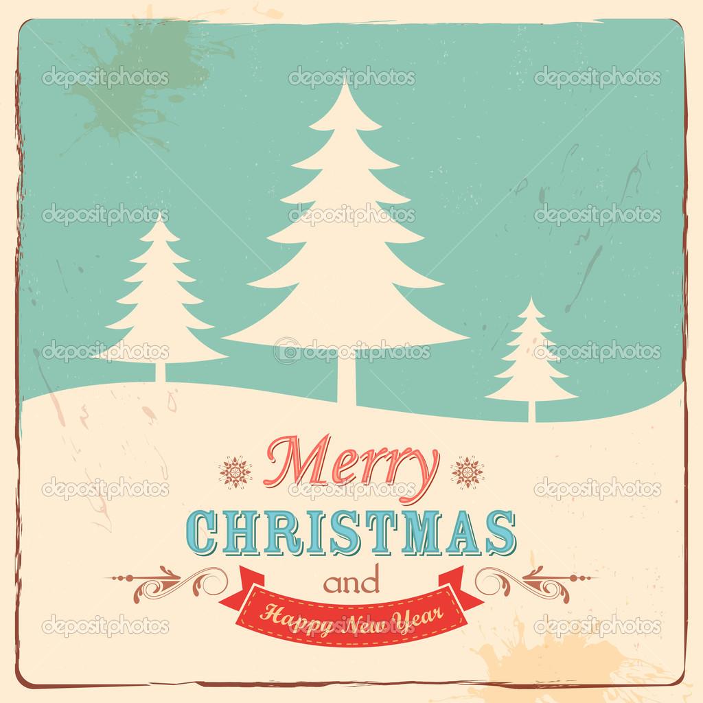 retro frohe weihnachten hintergrund stockvektor vectomart 35427259