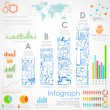 Stock Vector: Business Infographics Chart