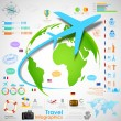Travel Infographic Chart — Stock Vector