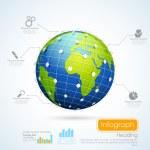 Business Infographics Chart — Stock Vector