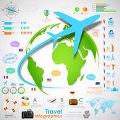 Travel Infographic Chart — Stock Vector