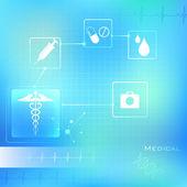 Antecedentes médicos — Vector de stock