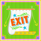 Exit Poster — Stock Vector