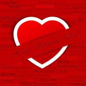 Heart in Love Background — Stockvektor