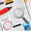 Job Search in Newspaper — 图库矢量图片