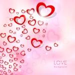 Flying Heart Love Background — Stock Vector