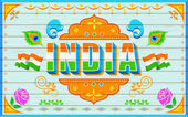 India Background — Stock Vector