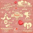 Love label for Valentine's day decoration — Stock Vector