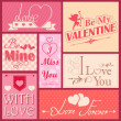 Stock Vector: Love label for Valentine's day decoration