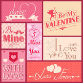 Love label for Valentine's day decoration — Stockvector