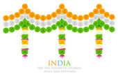 India Tricolor Flower Decoration — Stock Vector