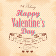 Happy Valentines Day Background — Stock Vector