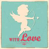 Retro Love Background — Stock Vector