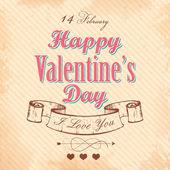 Happy Valentines Day Background — Stock Vector