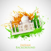 Grungy Taj Mahal — Stock Vector