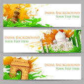 Indian Monument Banner — Stock Vector