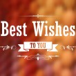 Best Wishes Typography Background — Stock Vector #39032757