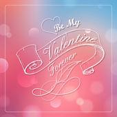 Happy Valentines Typography Background — Stock Vector