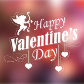 Happy Valentines Typography Background — Vettoriale Stock