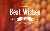 Best Wishes Typography Background — Stock Vector