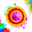 Colorful Happy Holi — Vetorial Stock