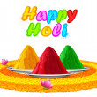 Colorful Happy Holi — Stok Vektör #39262003