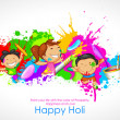 Kids playing Holi — Stock Vector #39262321
