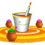 Colorful Happy Holi — Stockvektor