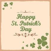 Saint Patricks Day Background — Stock Vector